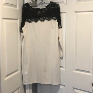 Venus white & black lace dress